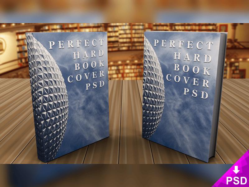 Standing Pair of Hardcover Book Mockups