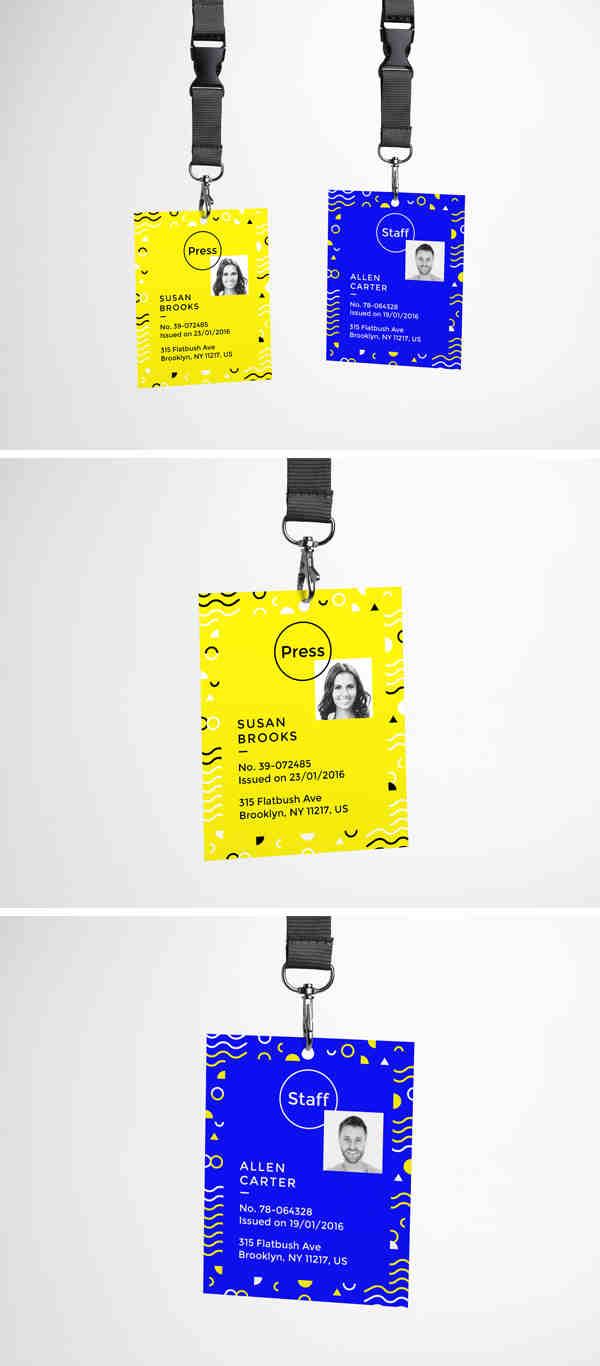 Colorful ID Card MockUp