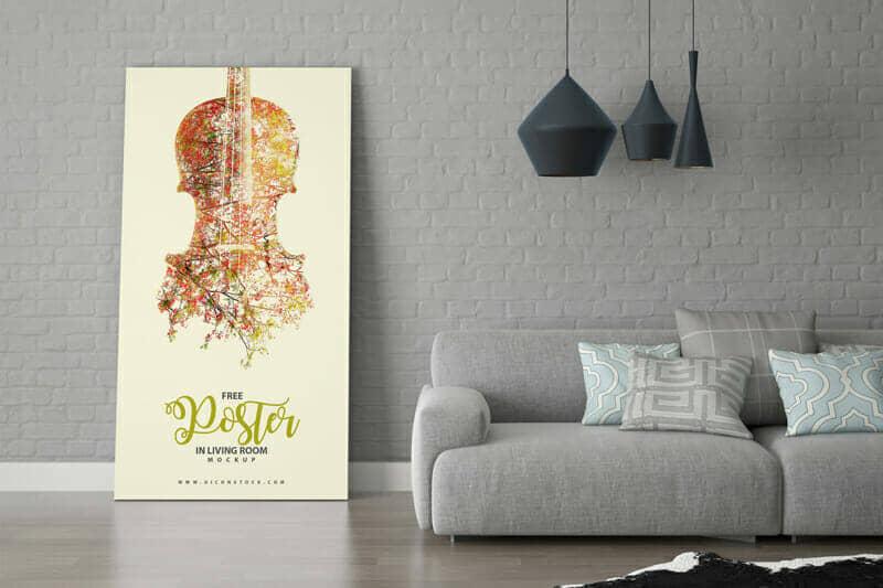 Room Interior Poster Frame Mockup