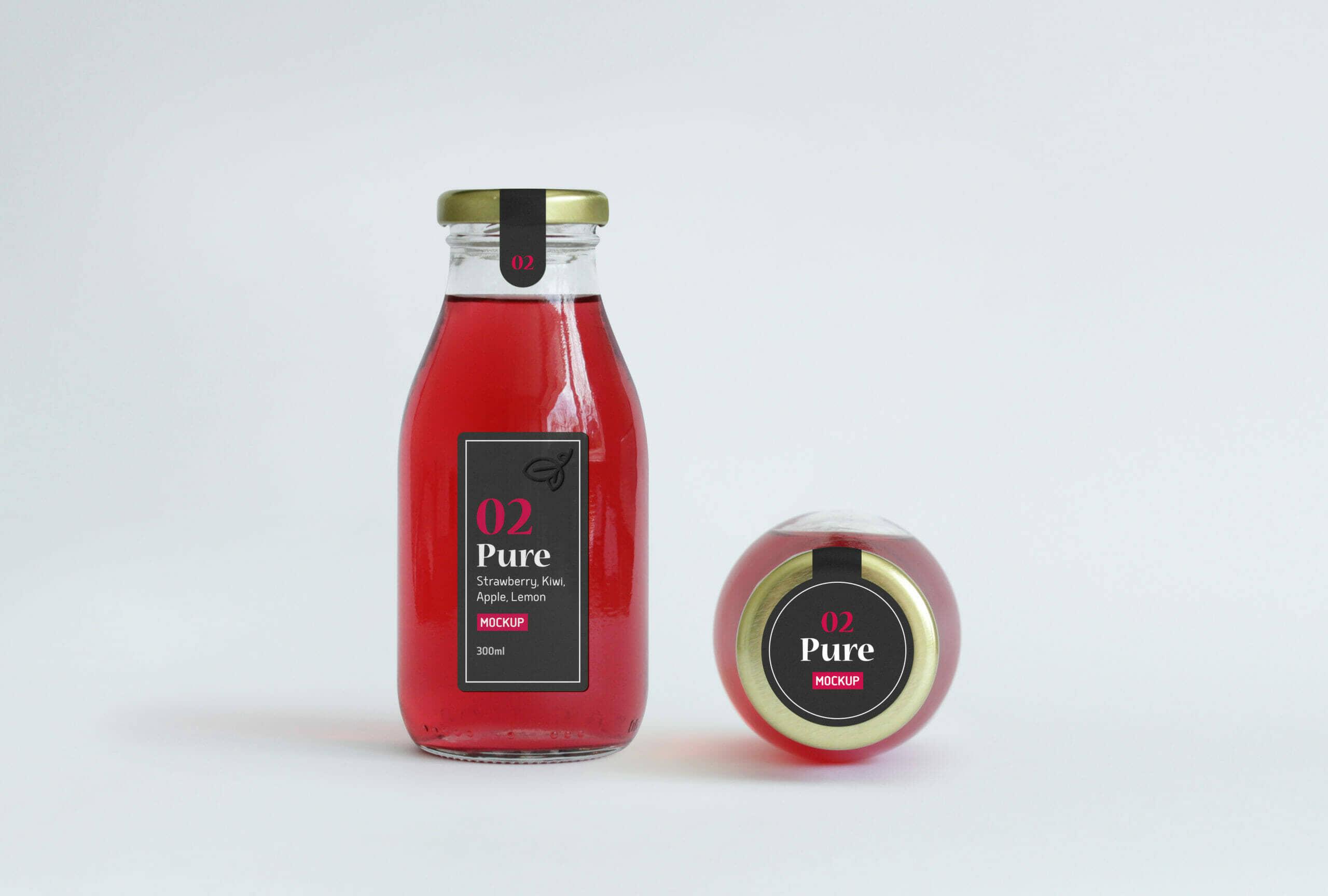 Juice Bottle Packaging MockUp