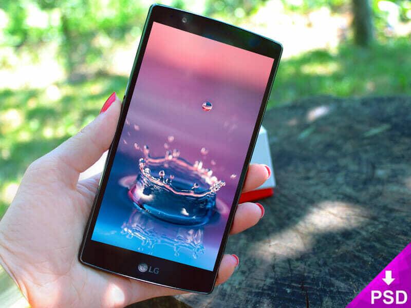 LG G3 Smartphone Mockup