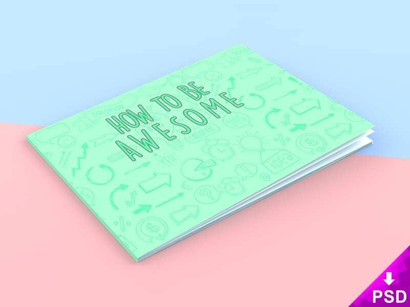 Landscape Book Cover Mockup