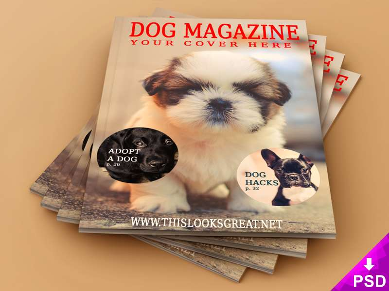 New Pet Magazine Mockup