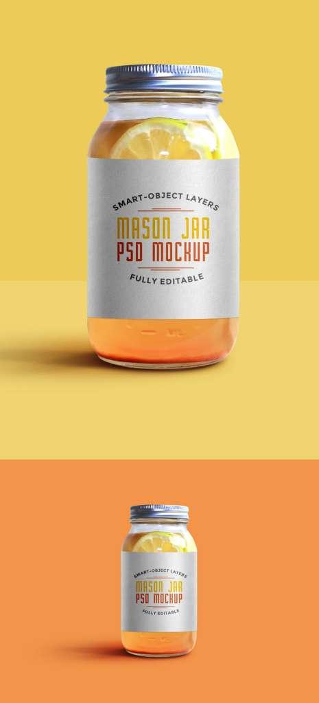 Food Mason Jar Mockup