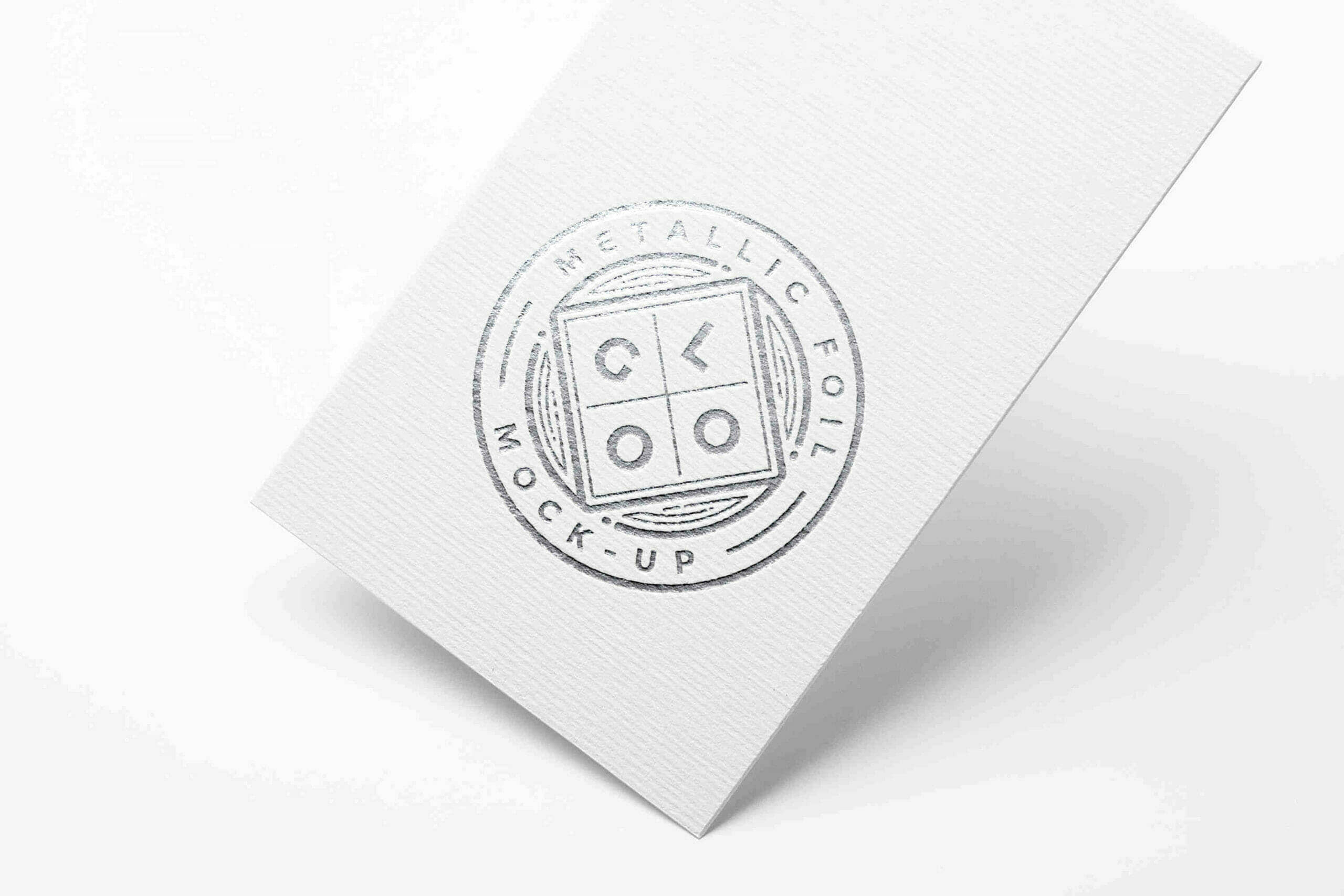 Round Metallic Foil Logo Mockup