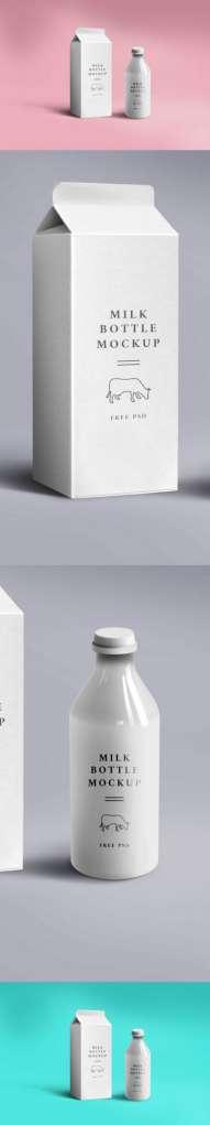 New Milk Packaging Mockup