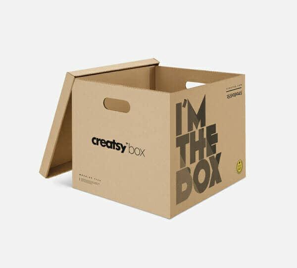 Big Moving Box MockUp