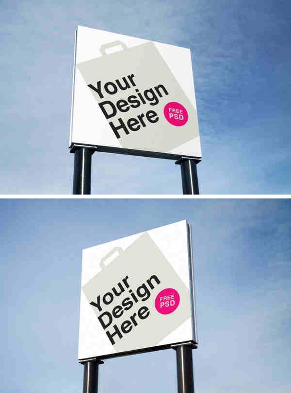 Simple Outdoor Advertising Mockups