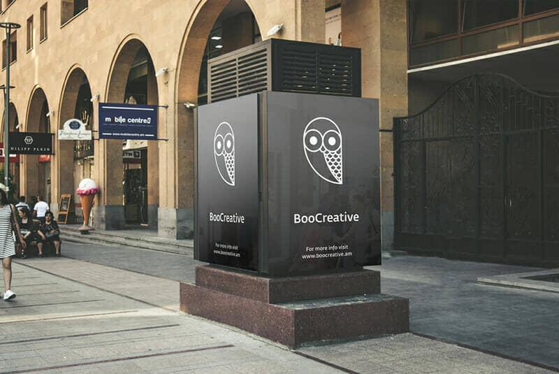 Outside Street Billboard Mockups For Electronic Advertisement