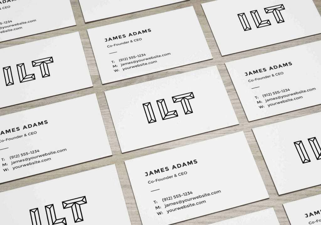Elegant Perspective Business Cards Mockup