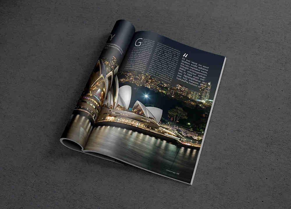 Photo Realistic Magazine Mockup