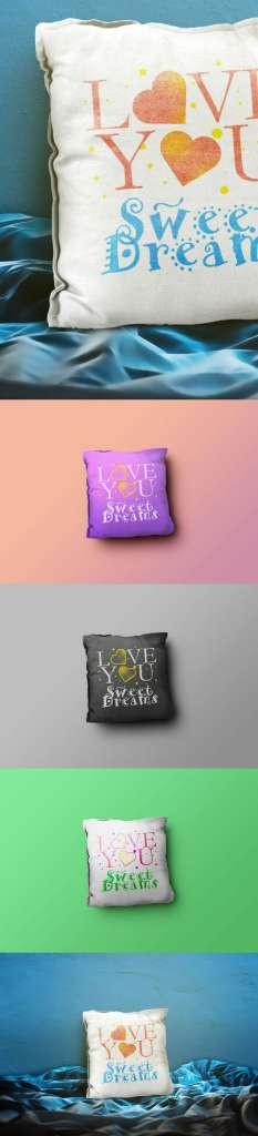 Throw Pillow Mockup Templates