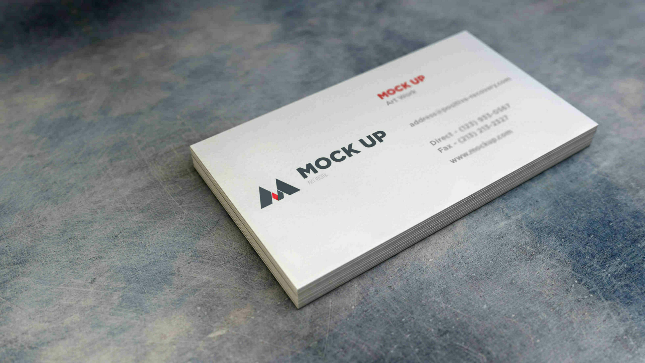 White Stack Business Card Mockup