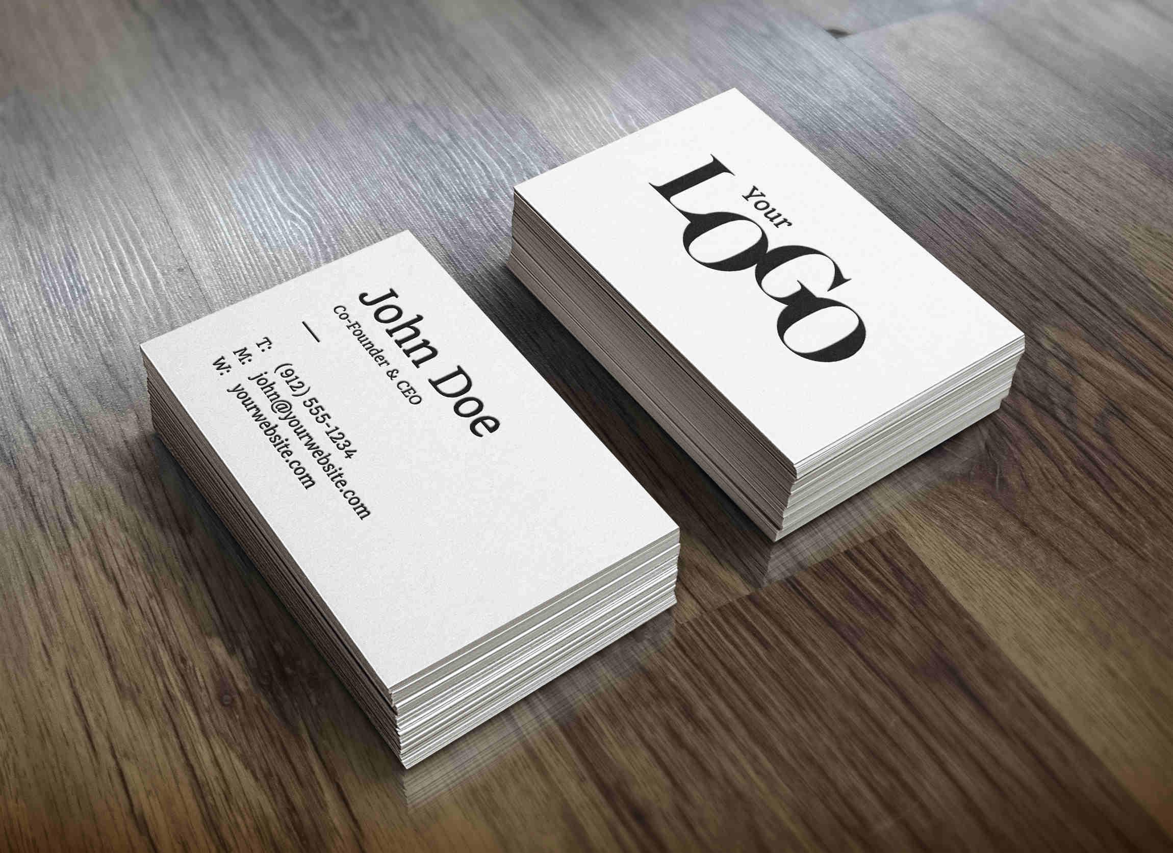 Clean Corporate Card Mockup
