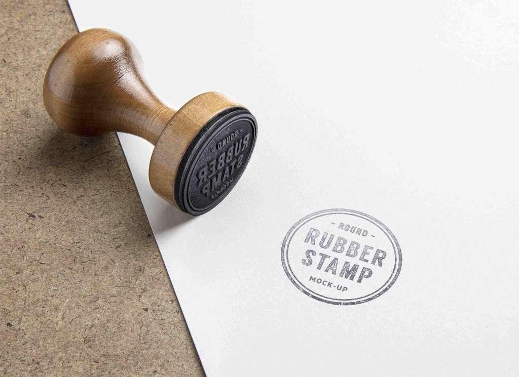 Round Rubber Stamp Mockup