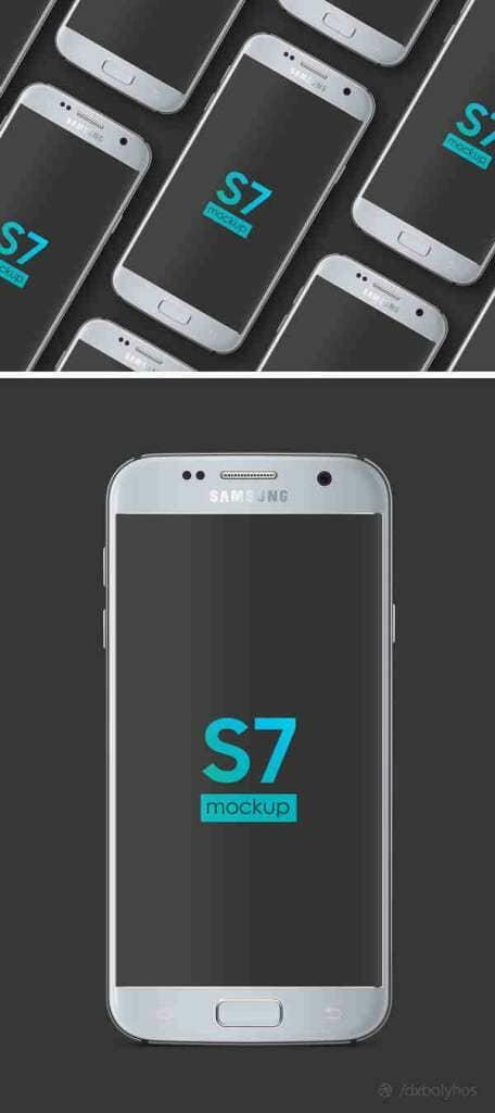 Android Samsung Galaxy S7 Mockup