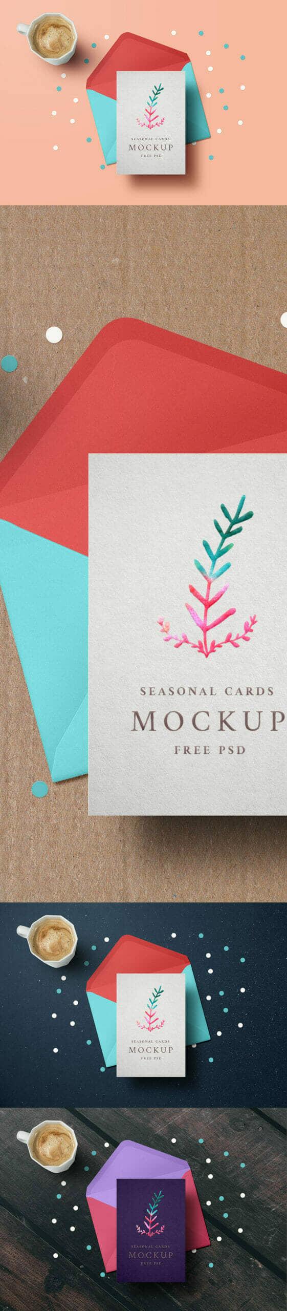 Holiday Greeting Card Mockup