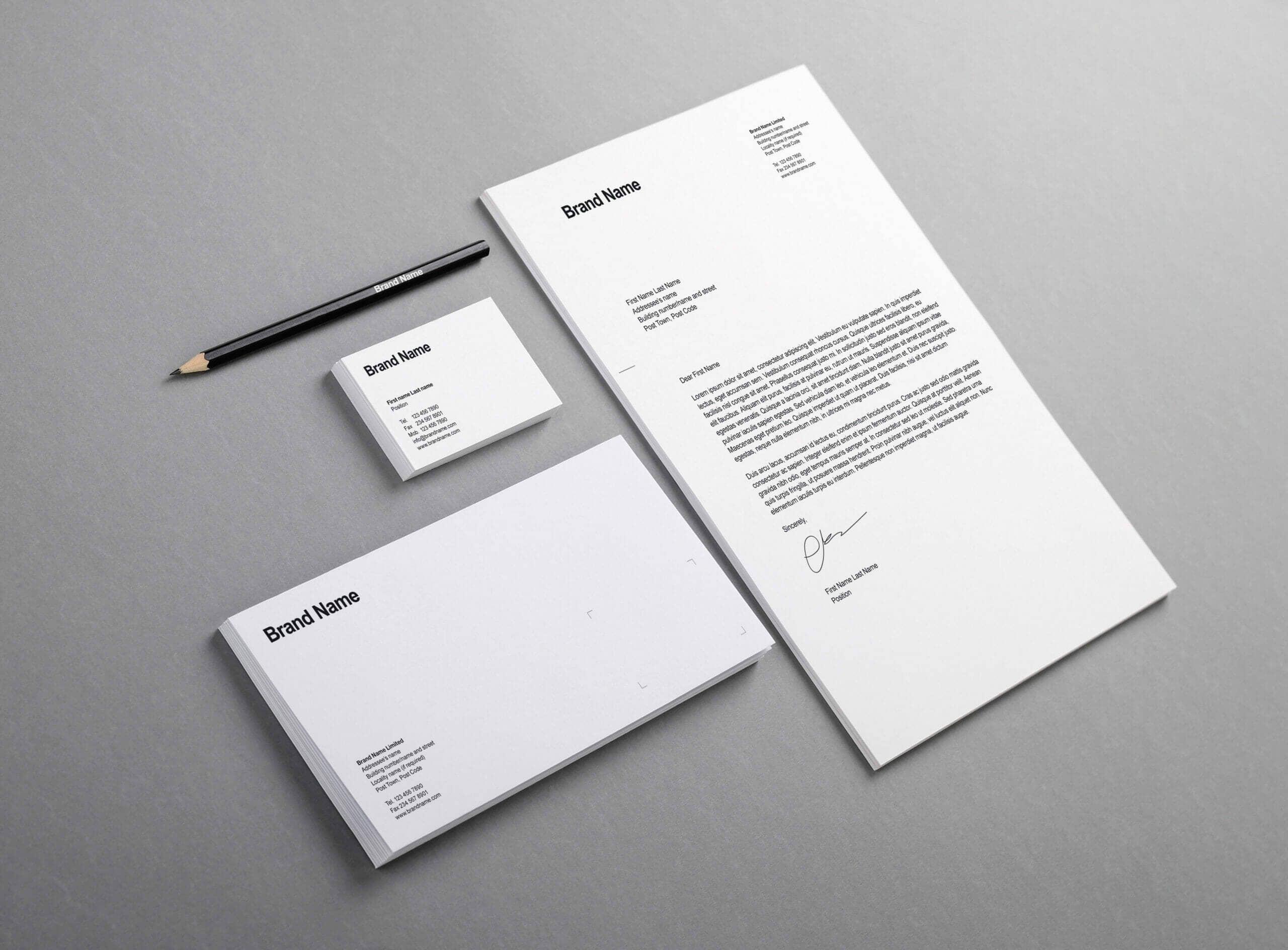 Simple White Branding Identity Mockup