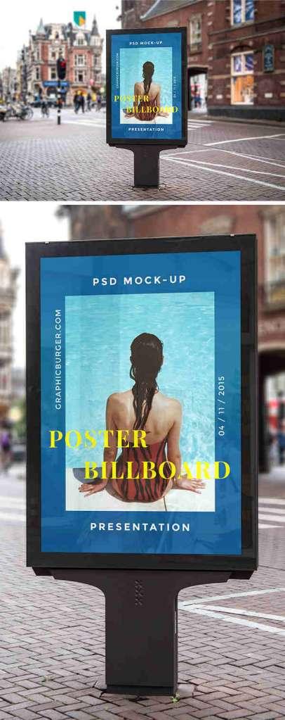 Blue Street Billboard Mockup