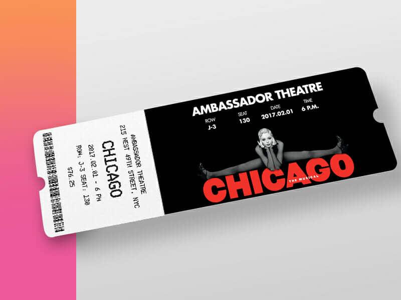 New Theatre Ticket Mockup