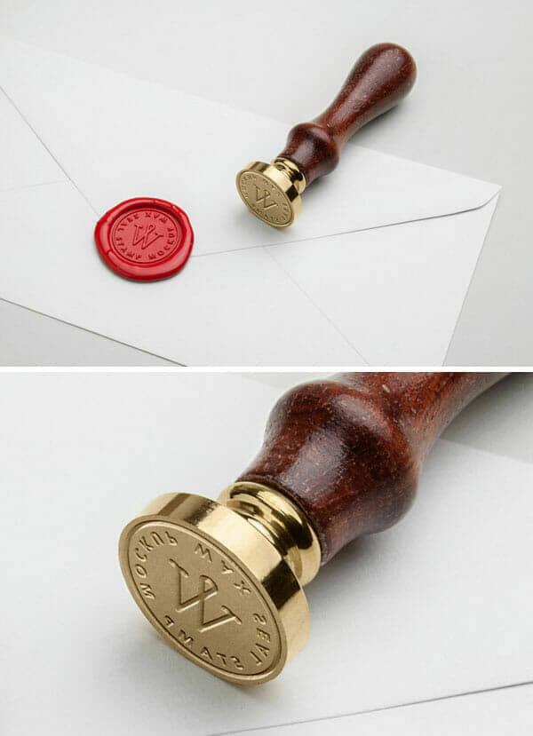 Wax Seal Stamp Mockup