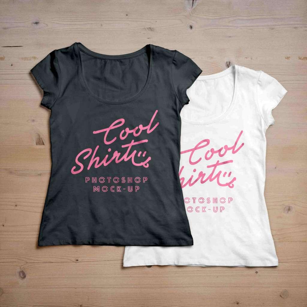 Black & White Cool Shirt for Women Mockup