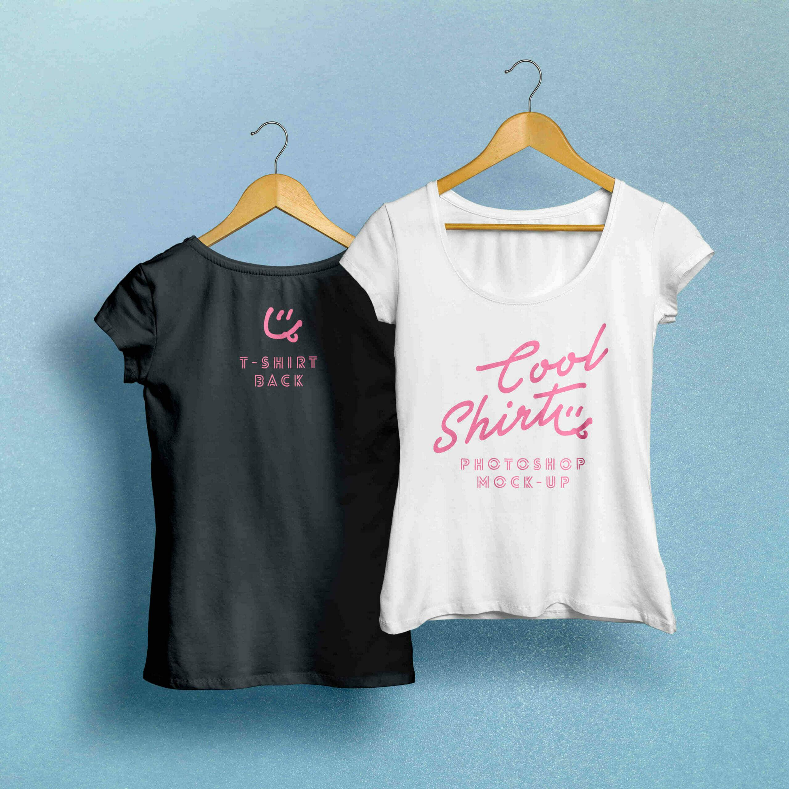 Black & White Woman T-Shirt Mockup