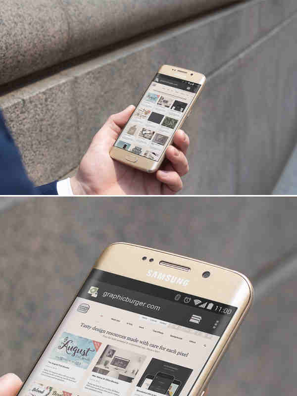 City Street Android Samsung 6 Edge Mockup