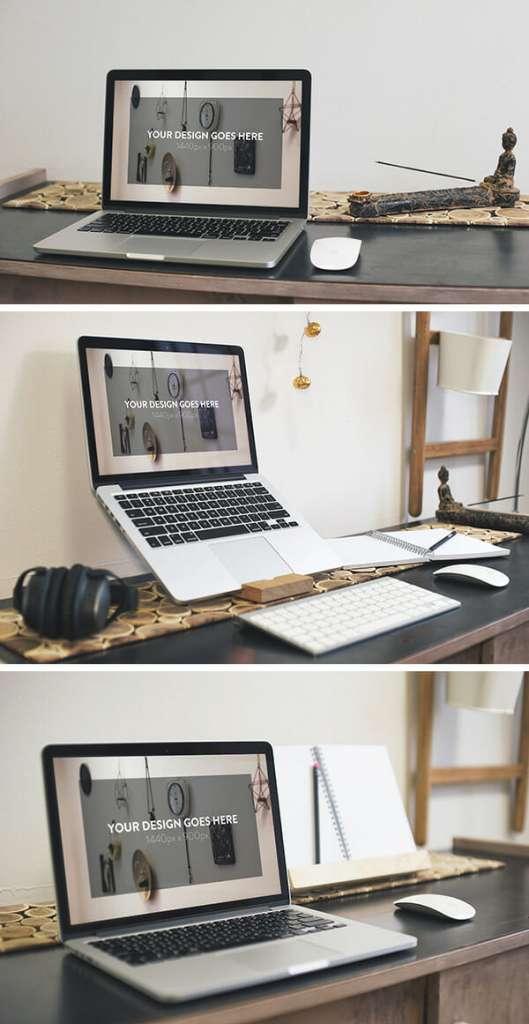 3 Elegant Macbook Pro MockUps