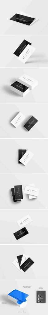 8 Clean Business Card Mockups