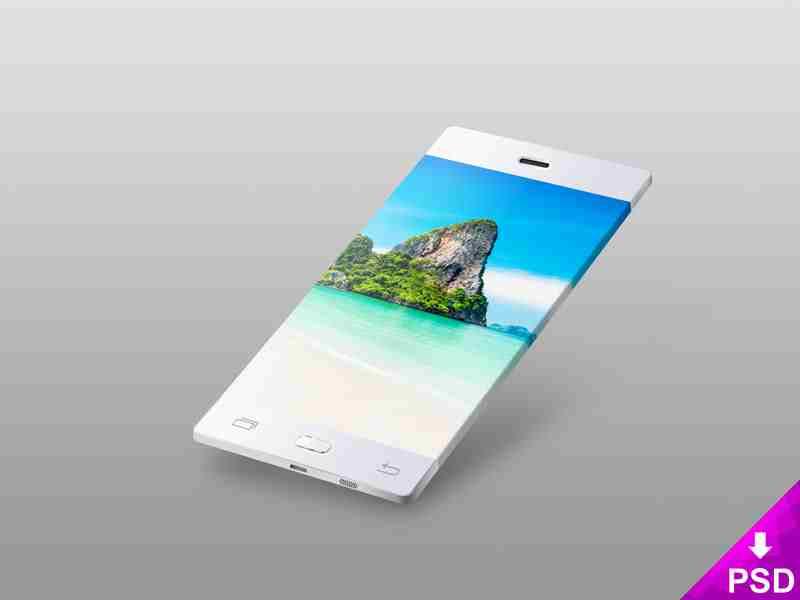 White Flat Android Phone Mockup