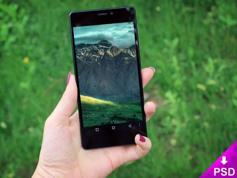 Black Huawei Phone Mockup