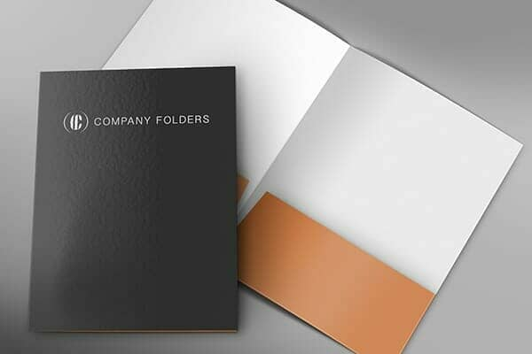 Front and Inside Folder Mockup Template