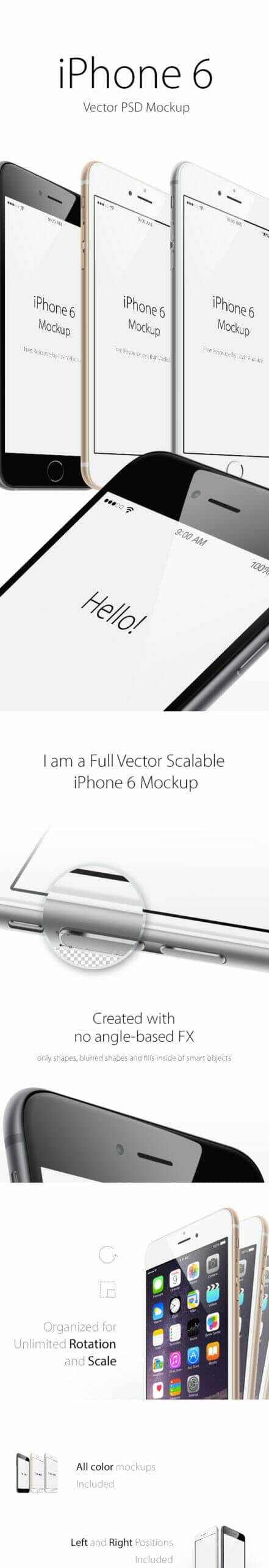 iPhone 6 Plus Angle View Mockup