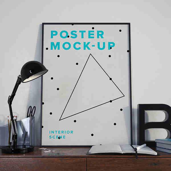 Interior Scene Poster Mockup