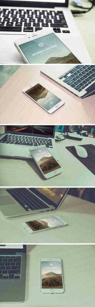 5 iPhone 6 Plus Photo Mockups