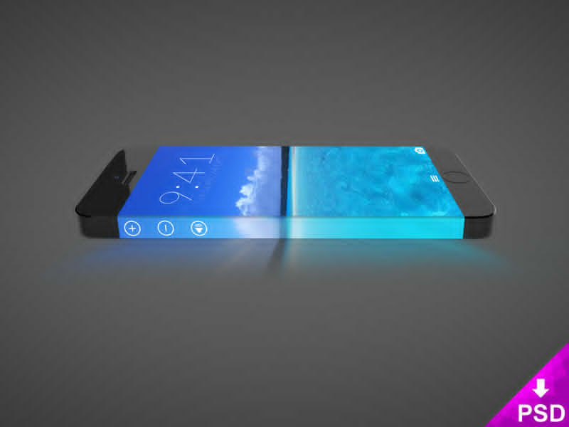 Realistic iPhone 7 Mockup Concept