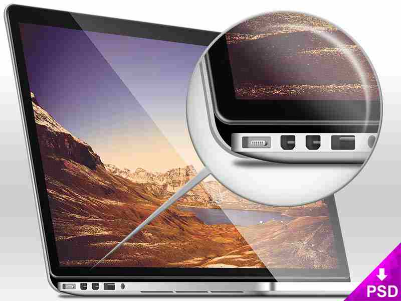 Silver Mac Book Pro Mockup