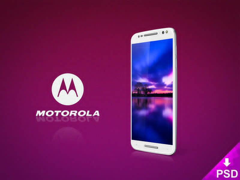 White Motorola Moto X 3e Mockup