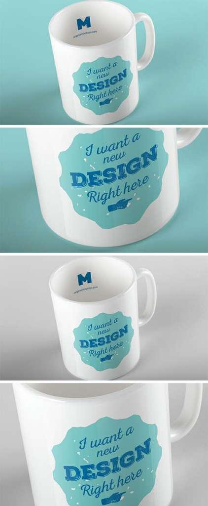 Realistic White Mug Mockup