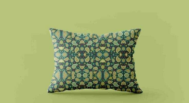 Simple Rectangular Pillow Mockup