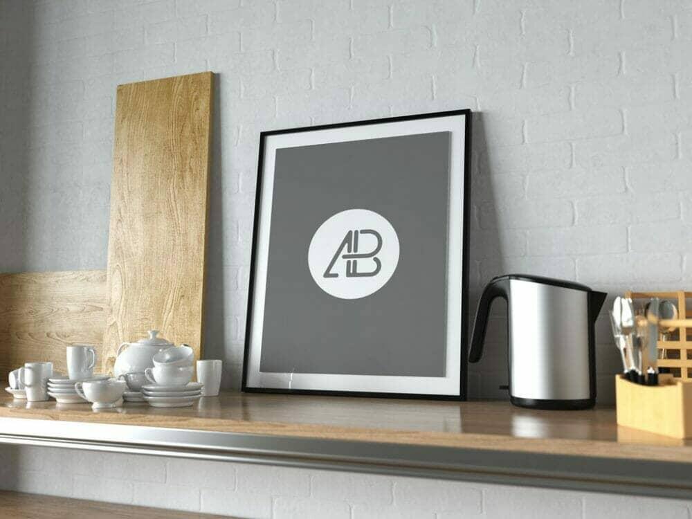 Poster Frame in Kitchen Mockup