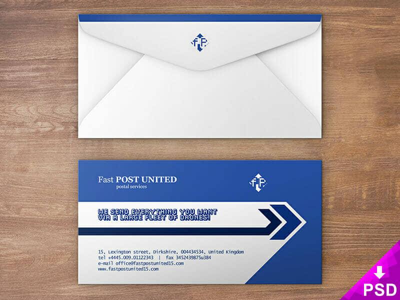 Professional Envelope Design Mock-up