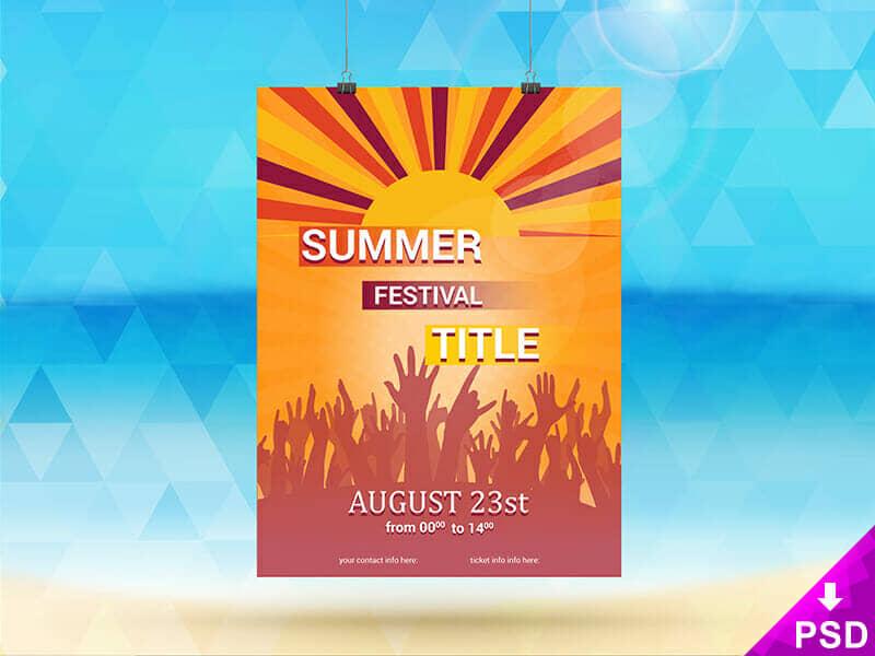 Vibrant Summer Festival Flyer
