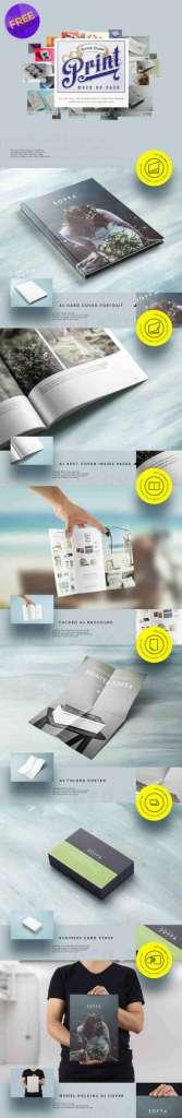 6 Paper Print Mockup Pack
