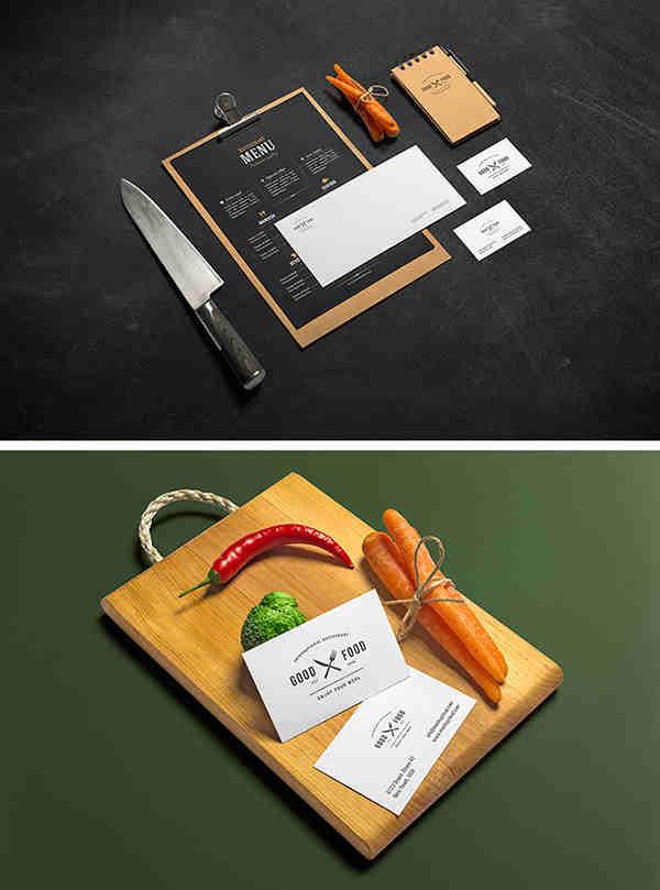 2 Restaurant & Bar Identity Mockup