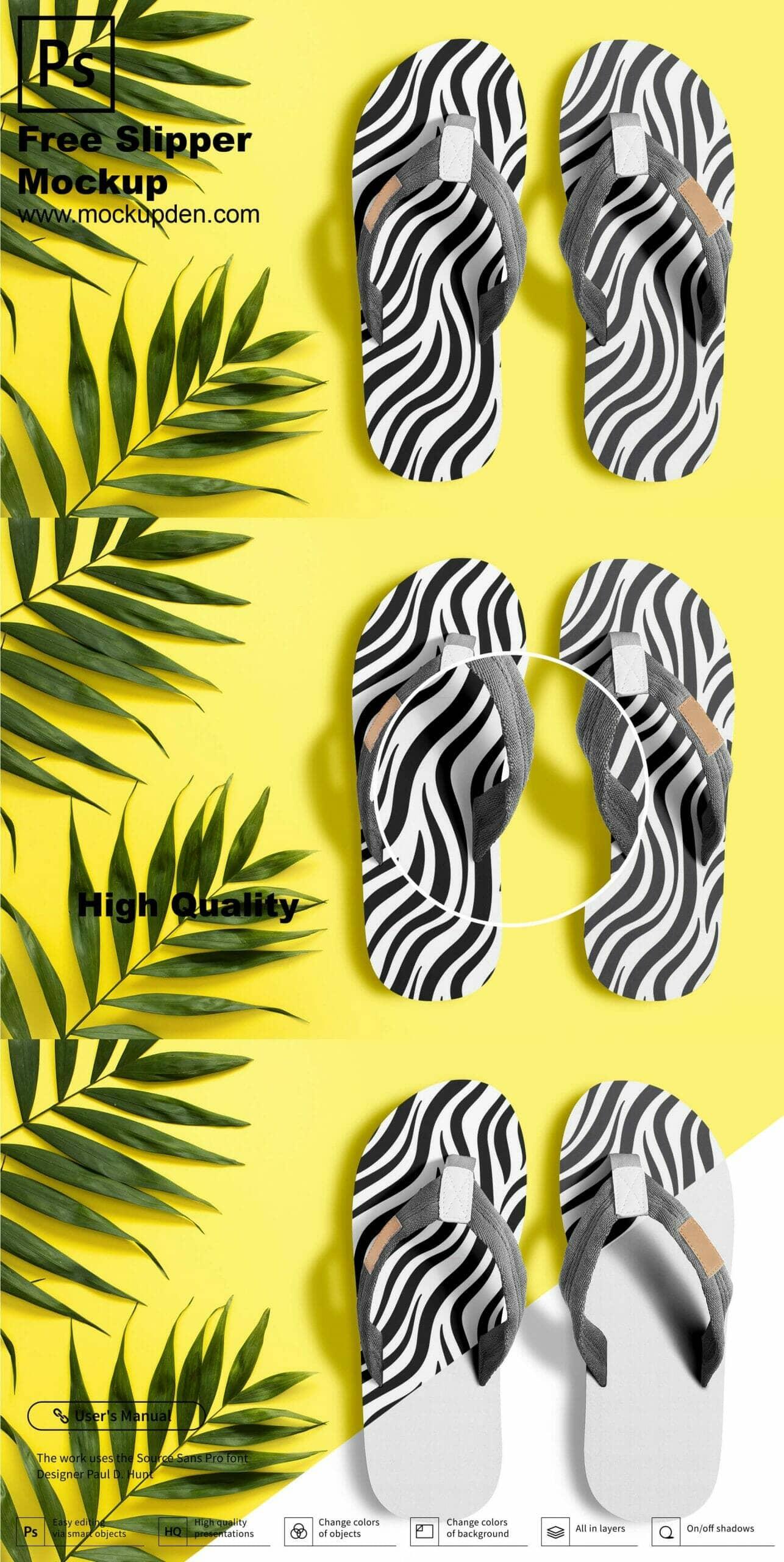 Beach Slippers/Flip Flops Mockups