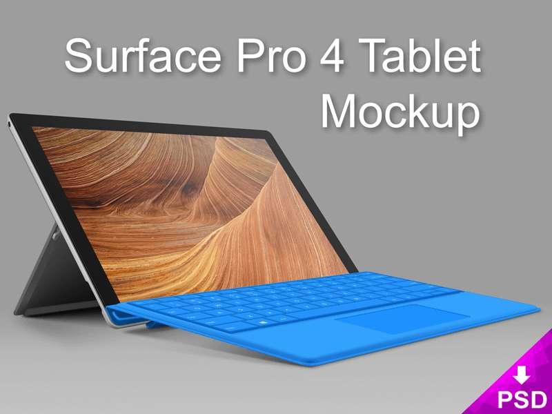 Surface Pro 4 Tablet Mockup