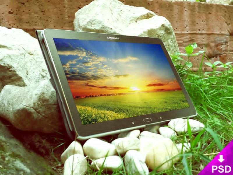 Black Samsung Tab 5 Mockup