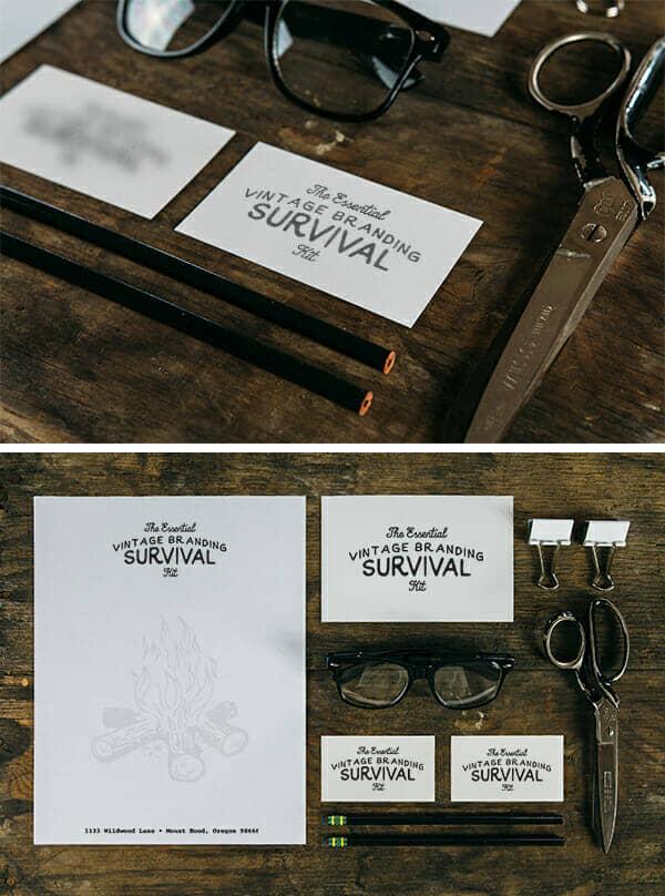 Survival Themed Branding Mockup
